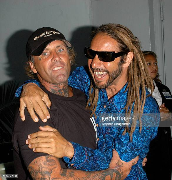 Original ZBoys proskaters Tony Alva and Jay Adams arrive at the Premiere of TriStar Pictures Lords Of Dogtown at the Mann's Chinese Theater on May 24...