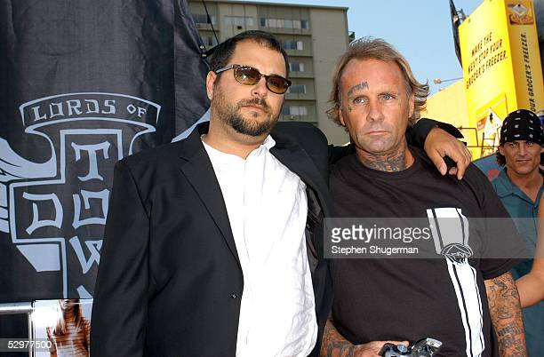 Original ZBoys skater Jay Adams and guest arrive at the Premiere of TriStar Pictures Lords Of Dogtown at the Mann's Chinese Theater on May 24 2005 in...