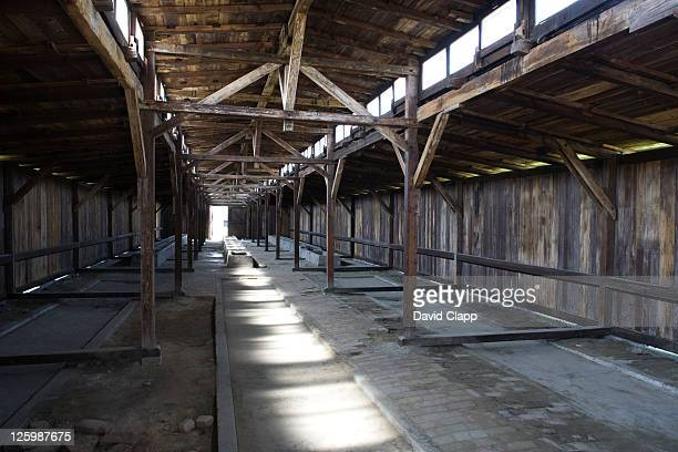 Originally built as stables this wooden building was converted into prisoners barrack and housed 700 prisoners in Auschwitz Concentration Camp in Poland