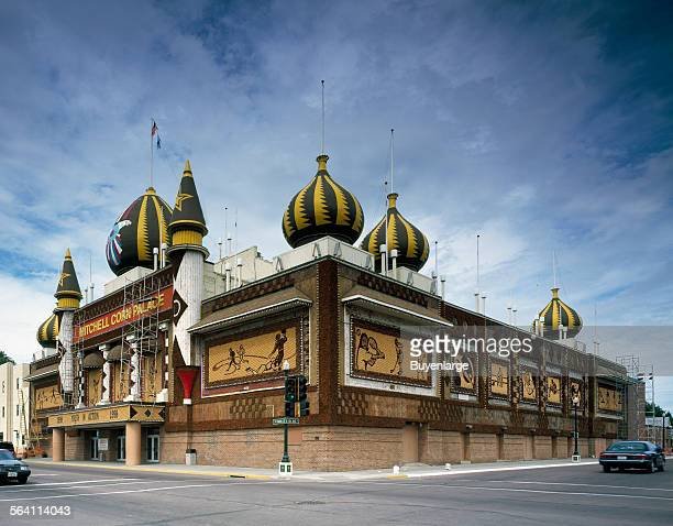 Originally built in 1892 and modified several times the Corn Palace which doubles as an auditorium and tourist attraction is refreshed each year with...