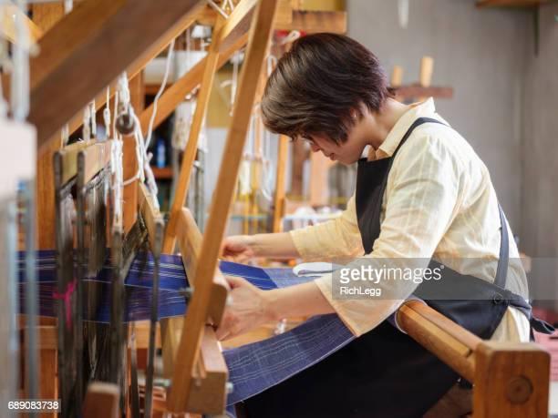 沖縄の織物繊維ショップ - 美術工芸 ストックフォトと画像