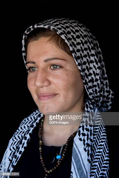 Orin Wali from Boras village in Kobani Syria at refugee camp in Turkey 'My mother put this [star] tattoo on my chin when I was just a baby She told...