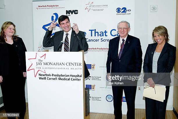 orinne Meli Dr Mark Pochapin director of the Jay Monahan Center for Gastrointestinal Health Dr Herbert Parades President and CEO of...