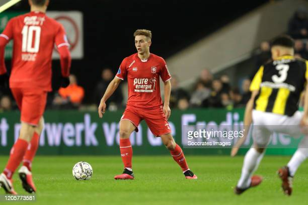 Oriol Busquets of FC Twente during the Dutch Eredivisie match between Vitesse v Fc Twente at the GelreDome on March 7 2020 in Arnhem Netherlands
