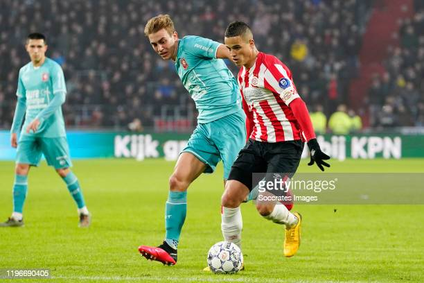 Oriol Busquets of FC Twente Ibrahim Afellay of PSV during the Dutch Eredivisie match between PSV v Fc Twente at the Philips Stadium on January 26...