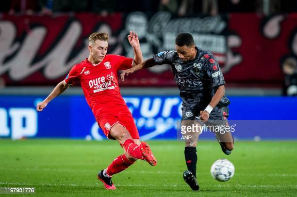 Oriol Busquets of FC Twente Patrick Joosten of Sparta Rotterdam during the Dutch Eredivisie match between FC Twente Enschede and Sparta Rotterdam at...