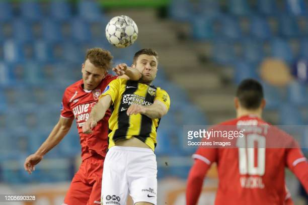 Oriol Busquets of FC Twente Sondre Tronstad of Vitesse during the Dutch Eredivisie match between Vitesse v Fc Twente at the GelreDome on March 7 2020...