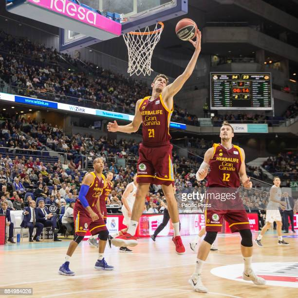 Oriol Paulí during Real Madrid victory over Herbalife Gran Canaria in Liga Endesa regular season game celebrated in Madrid at Wizink Center December...