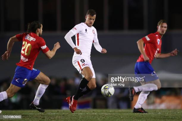 Oriol Riera of the Wanderers controls the ball during the FFA Cup round of 16 match between Bonnyrigg White Eagles FC and Western Sydney Wanderers at...