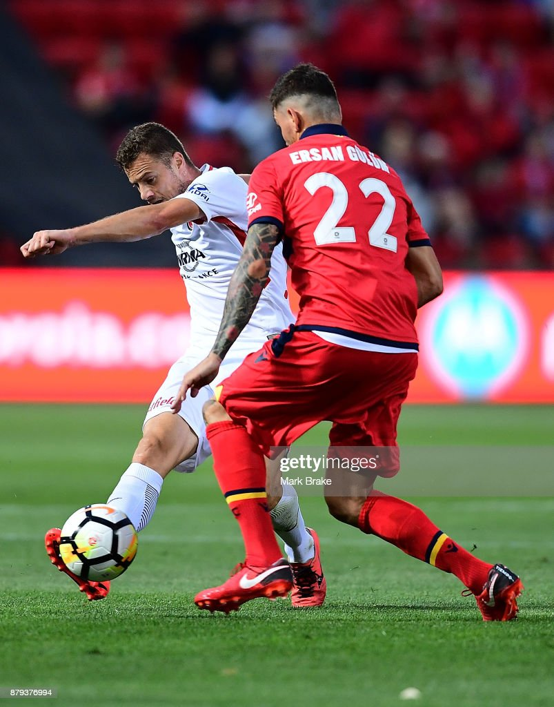 Oriol Riera of Western Sydney Wanderers during the round eight A-League match between Adelaide United and the Western Sydney Wanderers at Coopers Stadium on November 26, 2017 in Adelaide, Australia.