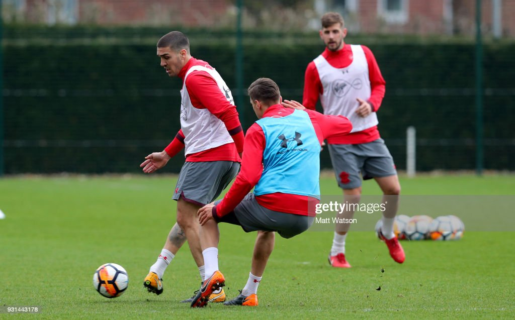 Oriol Romeu during a Southampton FC training session at the Staplewood Campus on March 13, 2018 in Southampton, England.