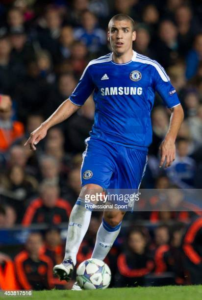 Oriol Romeu in action for Chelsea during the UEFA Champions League Group E match between Chelsea and KRC Genk at Stamford Bridge on October 19 2011...