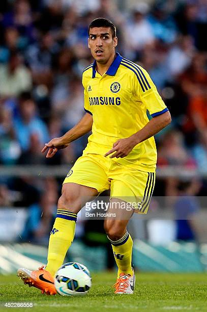 Oriol Romeu of Chelsea in action duing the pre season friendly match between Wycombe Wanderers and Chelsea at Adams Park on July 16 2014 in High...