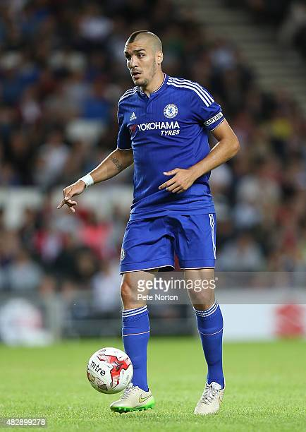 Oriol Romeu of Chelsea in action during the PreSeason Friendly match between MK Dons and Chelsea XI at Stadium mk on August 3 2015 in Milton Keynes...