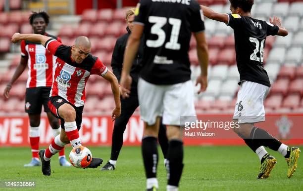 Oriol Romeu of Southampton during a friendly match between Southampton FC and Bristol City ahead of the Premier League restart at St Mary's Stadium...