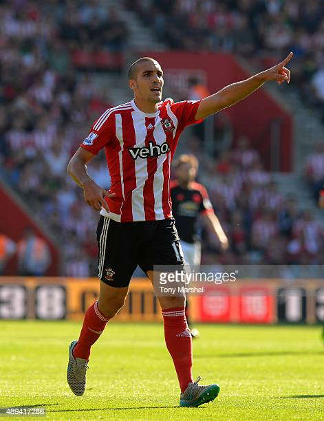 Oriol Romeu of Southampton during the Barclays Premier League match between Southampton and Manchester United at St Mary's Stadium on September 20...