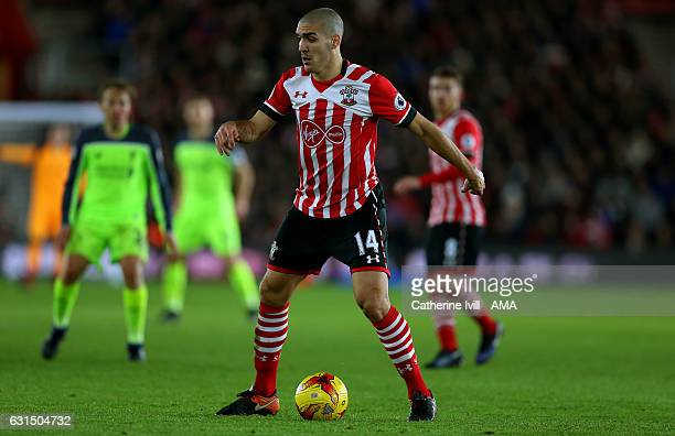 Oriol Romeu of Southampton during the EFL Cup semifinal first leg match between Southampton and Liverpool at St Mary's Stadium on January 11 2017 in...