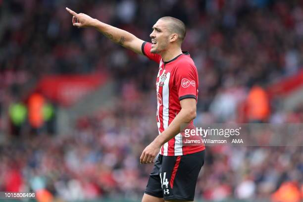 Oriol Romeu of Southampton during the Premier League match between Southampton FC and Burnley FC at St Mary's Stadium on August 12 2018 in...
