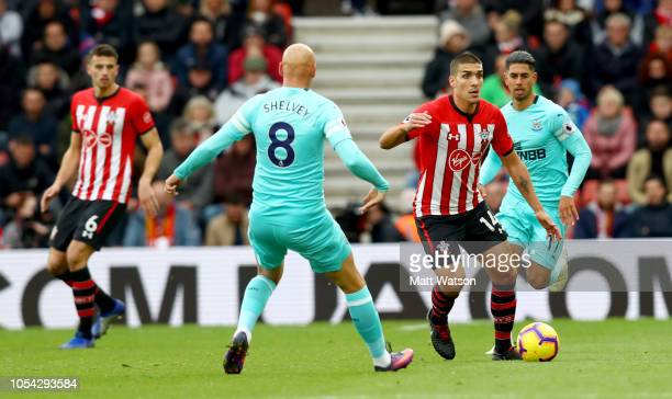 Oriol Romeu of Southampton during the Premier League match between Southampton FC and Newcastle United at St Mary's Stadium on October 27 2018 in...