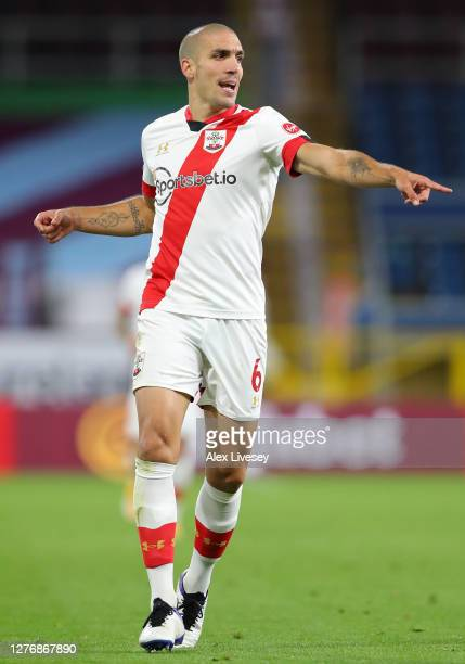 Oriol Romeu of Southampton during the Premier League match between Burnley and Southampton at Turf Moor on September 26 2020 in Burnley England...