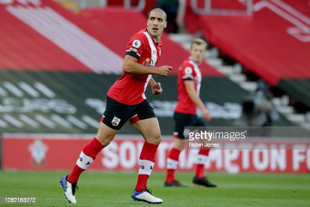 Oriol Romeu of Southampton during the Premier League match between Southampton and Everton at St Mary's Stadium on October 25 2020 in Southampton...