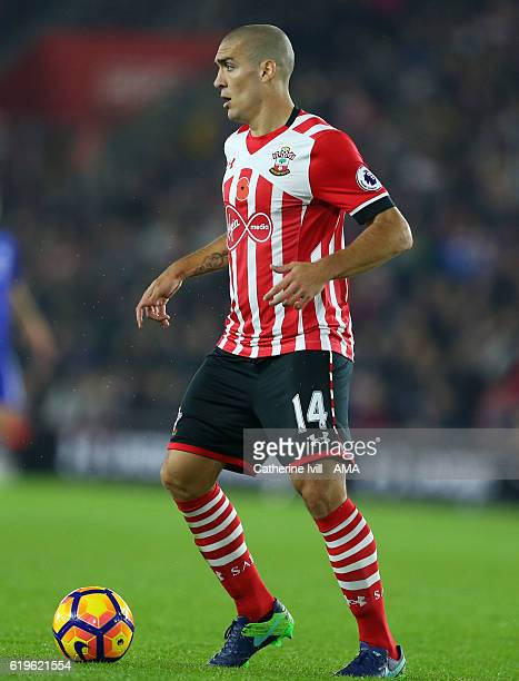 Oriol Romeu of Southampton during the Premier League match between Southampton and Chelsea at St Mary's Stadium on October 30 2016 in Southampton...