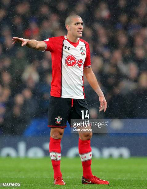 Oriol Romeu of Southampton during the Premier League match between Chelsea and Southampton at Stamford Bridge on December 16 2017 in London England