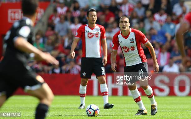Oriol Romeu of Southampton during the preseason friendly between Southampton FC and Sevilla at St Mary's Stadium on August 5 2017 in Southampton...