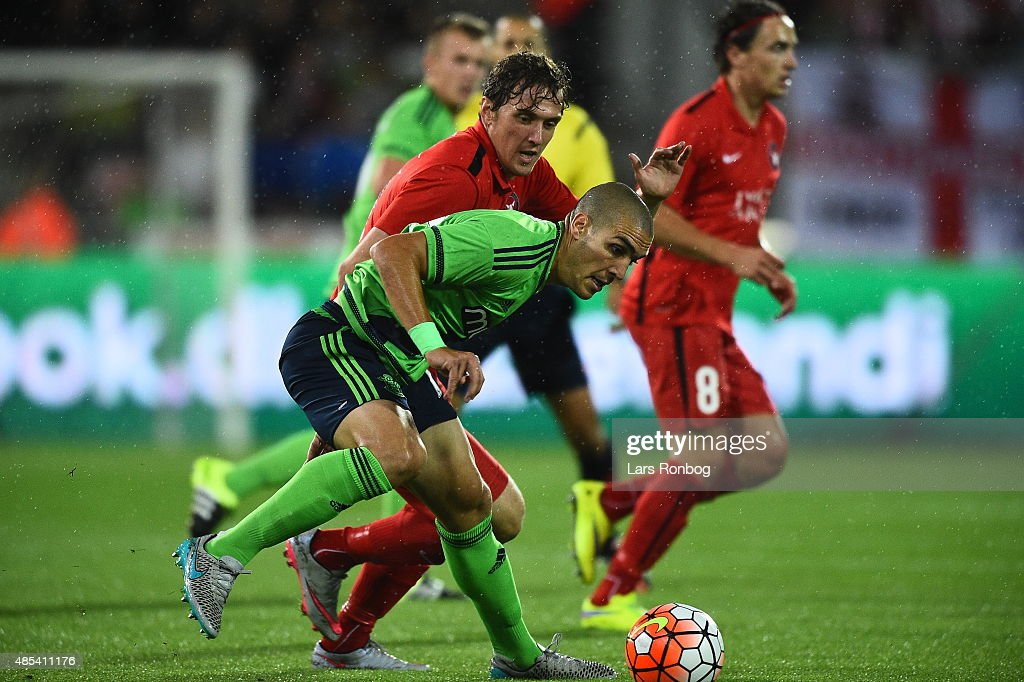 Oriol Romeu of Southampton during the UEFA Europa League match between FC Midtjylland and Southampton FC at MCH Arena on August 27, 2015 in Herning, Denmark.