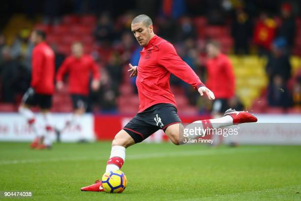 Oriol Romeu of Southampton during the warm up prior to the Premier League match between Watford and Southampton at Vicarage Road on January 13 2018...