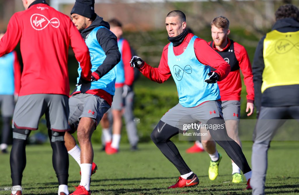 Oriol Romeu of Southampton FC during a training session at the Staplewood Campus on January 19, 2018 in Southampton, England.