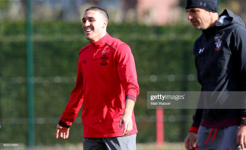 Oriol Romeu of Southampton FC during a training session at the Staplewood Campus on February 20, 2018 in Southampton, England.