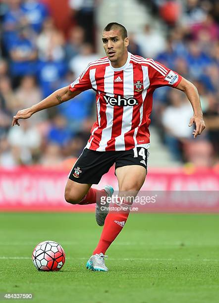 Oriol Romeu of Southampton in action during the Barclays Premier League match between Southampton and Everton at St Mary's Stadium on August 15 2015...