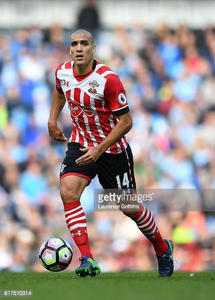 Oriol Romeu of Southampton in action during the Premier League match between Manchester City and Southampton at Etihad Stadium on October 23 2016 in...