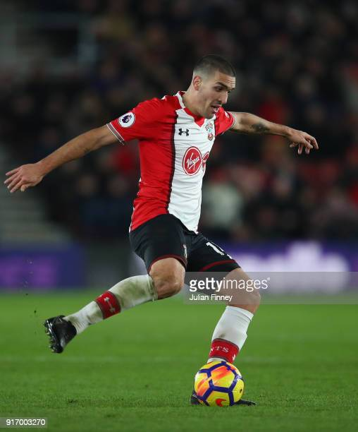 Oriol Romeu of Southampton in action during the Premier League match between Southampton and Liverpool at St Mary's Stadium on February 11 2018 in...