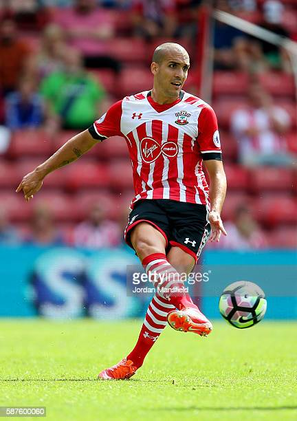 Oriol Romeu of Southampton in action during the preseason friendly between Southampton and Athletic Club Bilbao at St Mary's Stadium on August 7 2016...