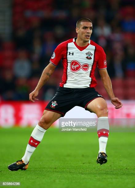 Oriol Romeu of Southampton in actiona during the PreSeason Friendly match between Southampton and FC Augsburg at St Mary's Stadium on August 2 2017...