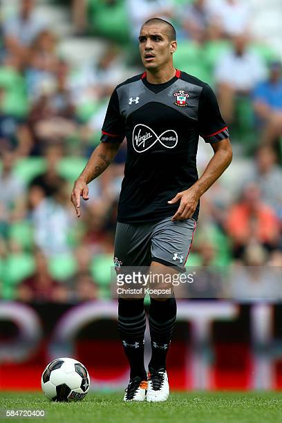 Oriol Romeu of Southampton runs with the ball during the friendly match between FC Groningen an FC Southampton at Euroborg Stadium on July 30 2016 in...
