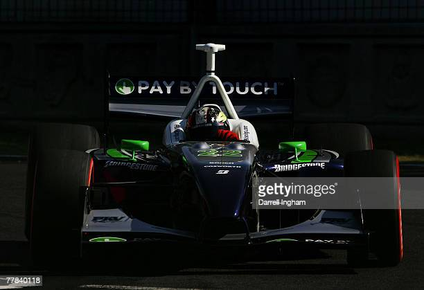 Oriol Servia drives the PKV Racing Panoz DP01 during practice for the ChampCar World Series Grand Premio Tecate on November 10 2007 at the Autodromo...