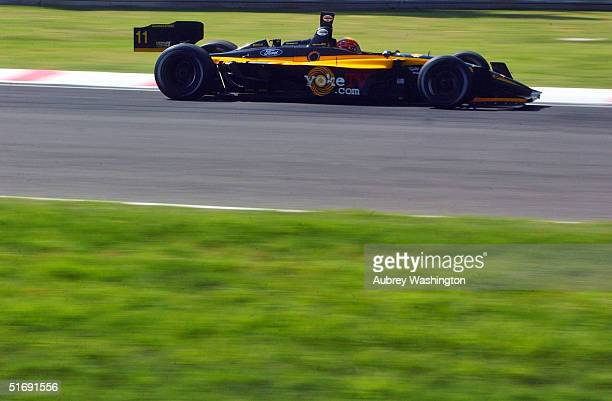 Oriol Servia of Spain drives during practice and qualifying for the CART series GP at the Autodromo Hermanos Rodriguez November 6 2004 in Mexico City...