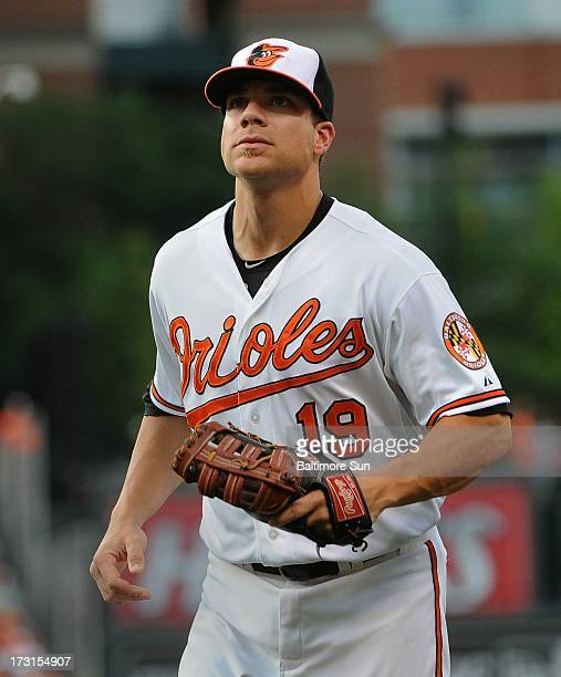 Orioles allstar Chris Davis is shown during Baltimore's game against the Texas Rangers at Oriole Park at Camden Yards in Baltimore Maryland Monday...