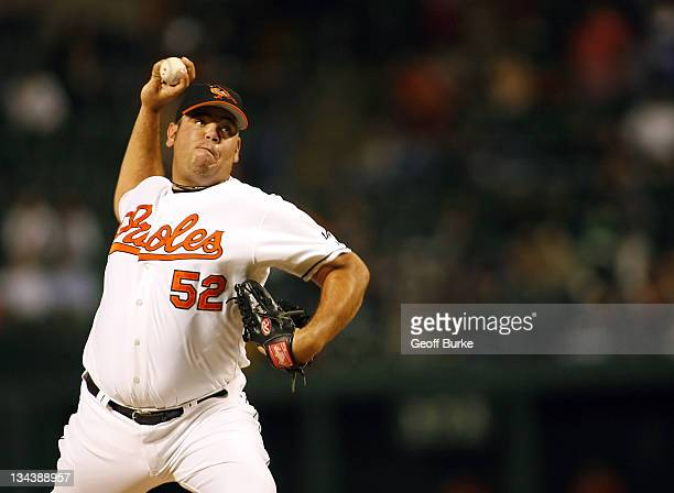 Orioles pitcher Chris Britton as the Boston Red Sox defeated the Baltimore Orioles 65 at Camden Yards in Baltimore Maryland on Thursday September 14...