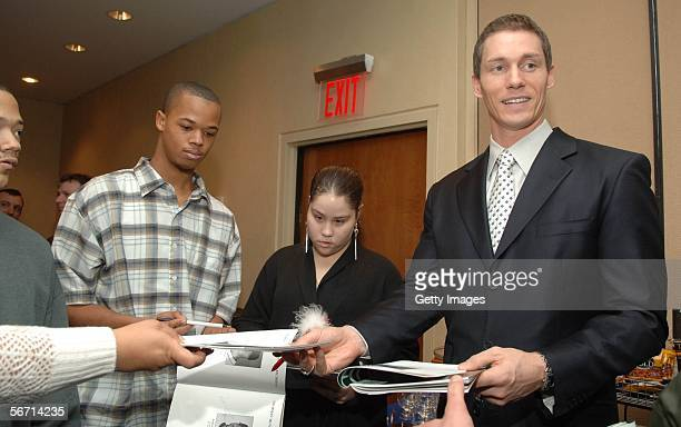 Orioles pitcher Kris Benson signs autographs at the 26th Annual Thurman Munson Awards at the Marriott Marquis Hotel on January 31 2006 in New York...