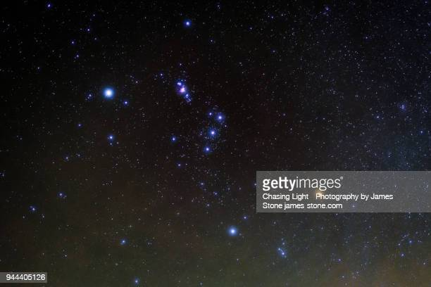 orion constellation - costellazione foto e immagini stock