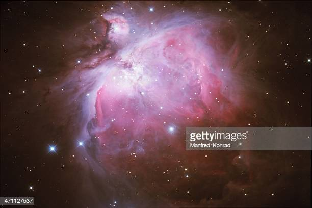 Orion Nebula in space with stars