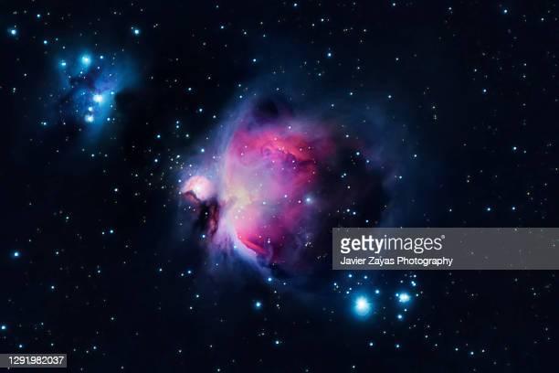 orion nebula (m42 - messier 42) - espaço para texto imagens e fotografias de stock