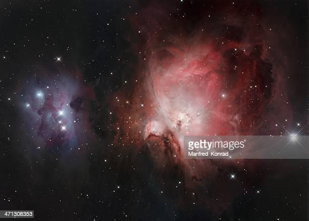 nebulosa di orione - stella cometa foto e immagini stock