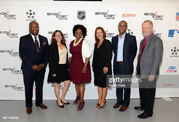 Oris Stuart Jessica Berman Wendy Lewis JoAnn Neale Robert Gulliver Richard Lapchick attend Beyond Sport United 2016 at Barclays Center on August 9...