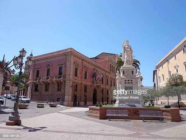 oristano piazza eleonora, sardinia italy - oristano imagens e fotografias de stock