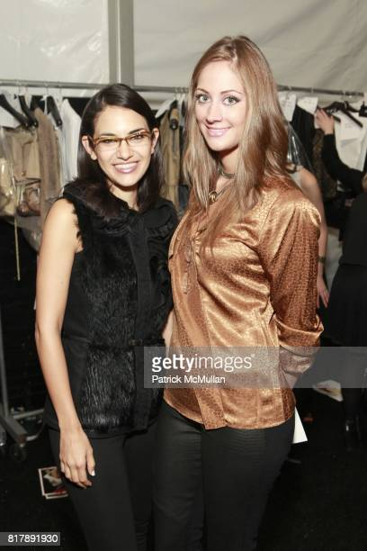 Orital Karelic and Erin Gray attend ELIE TAHARI Spring 2011 Fashion Show at The Studio at Lincoln Center on September 14 2010